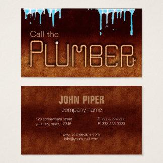 Llame al fontanero tarjeta de visita