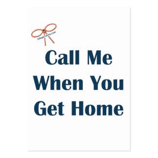 Llámeme cuando usted consigue los recordatorios ca tarjeta de visita