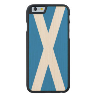 llamo por teléfono a 6/6s Escocia Funda De iPhone 6 Carved® Slim De Arce