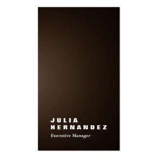Llano impresionante elegante vertical del marrón tarjetas de visita