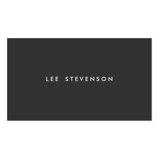 Llano minimalista negro simple moderno profesional tarjetas de visita