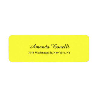 Llano moderno elegante minimalista amarillo claro etiqueta de remite