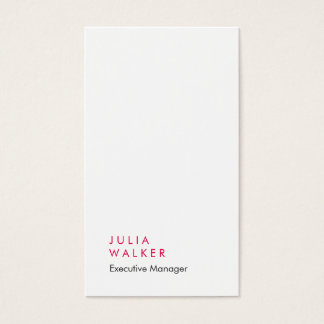Llano moderno elegante profesional del blanco gris tarjeta de negocios