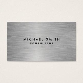Llano moderno profesional elegante del metal tarjeta de negocios