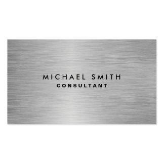 Llano moderno profesional elegante del metal tarjetas de visita