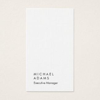 Llano moderno único elegante de lino vertical tarjeta de negocios