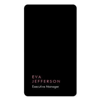 Llano negro moderno único elegante vertical tarjetas de visita
