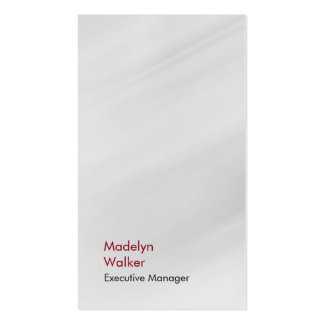 Llano rojo gris moderno único elegante vertical tarjetas de visita