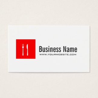 Llano rojo moderno de la caja del cocinero del tarjeta de negocios