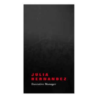 Llano rojo negro gris impresionante elegante tarjetas de visita