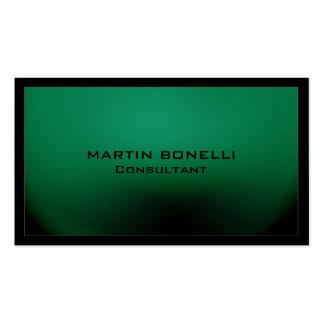 Llano único especial de la frontera negra verde tarjetas de visita