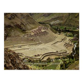 Llaqtapata arruina Perú en el rastro del inca Postal