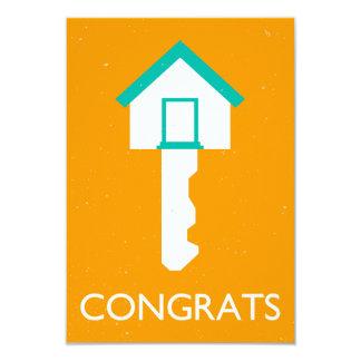 llave de la casa de los congrats invitación 8,9 x 12,7 cm