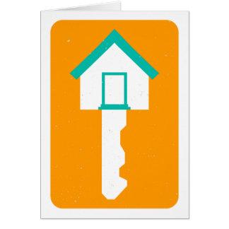 llave de la casa tarjeta de felicitación