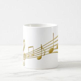 Llave de oro del violín taza de café