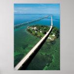 Llave del puente y de la paloma de siete millas, l posters