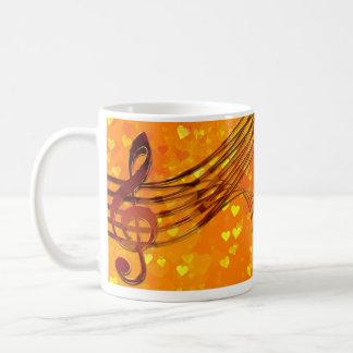 Llave del violín taza de café