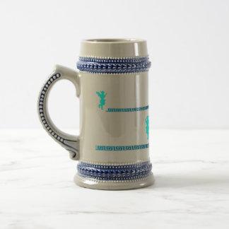 Llave griega de la taza/del grecain con Evzone Jarra De Cerveza