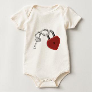 Llave y cerradura del corazón body para bebé