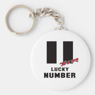 Llavero 11 es mi número afortunado