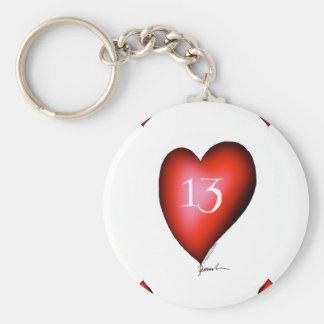 Llavero 13 de corazones