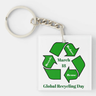 Llavero 18 de marzo, diseño de reciclaje global del día