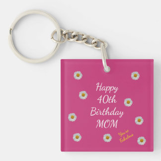 Llavero 40.a mamá feliz del cumpleaños