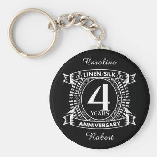 Llavero 4to escudo apenado del aniversario de boda