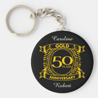 Llavero 50.o Aniversario de boda del oro