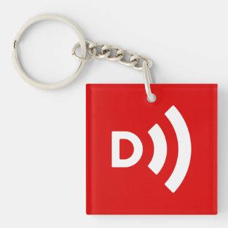 Llavero abatido del rojo del logotipo