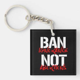 Llavero Abortos de la ignorancia de la prohibición no --