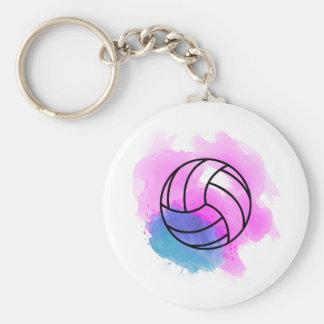 Llavero Acuarela del voleibol