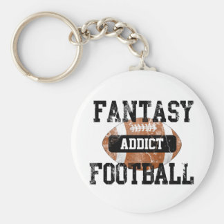 Llavero Adicto al fútbol de la fantasía