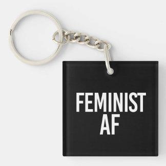 Llavero AF feminista - - blanco -