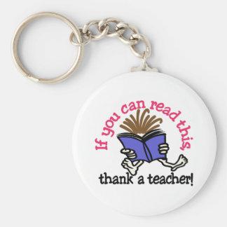 Llavero Agradezca a un profesor