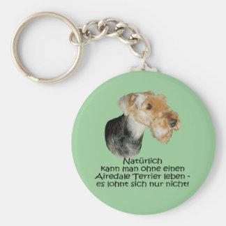 "Llavero ""Airedale Terrier """