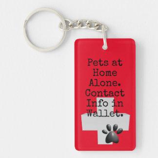 Llavero Alarma del contacto del HIELO de los mascotas