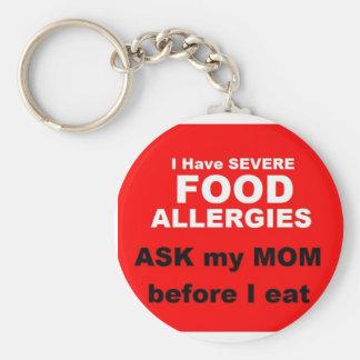 Llavero Alergias alimentarias