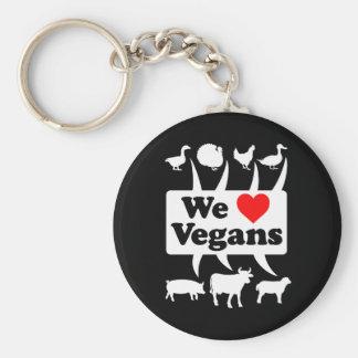 Llavero Amamos a los veganos II (blancos)