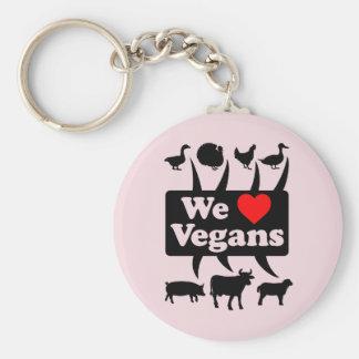 Llavero Amamos a veganos II (el negro)