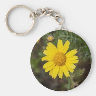 Llavero Amarillo del Cu de la flor de la margarita