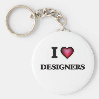 Llavero Amo a diseñadores