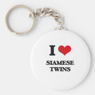 Llavero Amo a gemelos siameses