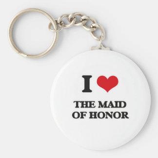 Llavero Amo a la criada del honor