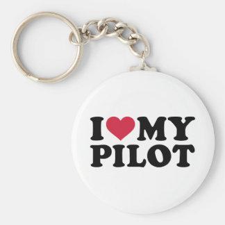 Llavero Amo a mi piloto