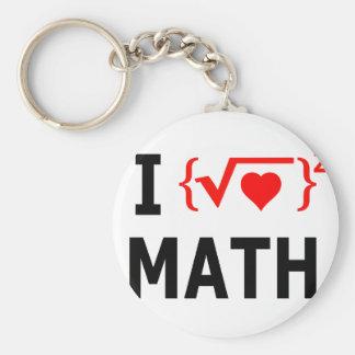 Llavero Amo blanco de la matemáticas