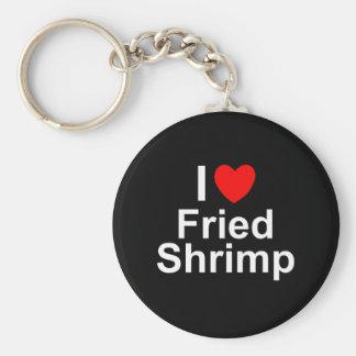 Llavero Amo el camarón frito corazón