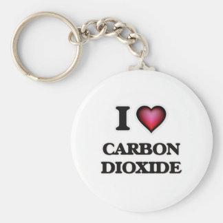 Llavero Amo el dióxido de carbono