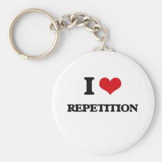 Llavero Amo la repetición