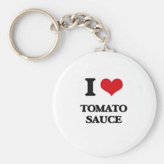 Llavero Amo la salsa de tomate